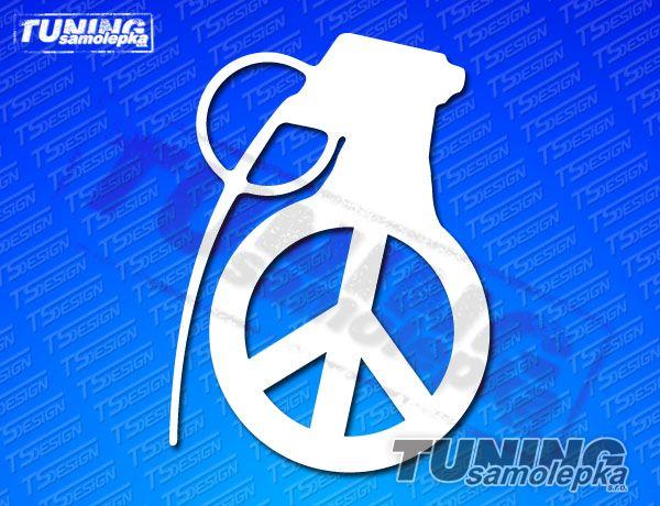 peace grenade samolepka symboly a obr225zky tsdesign s